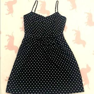 J Crew—Dress, black with white dot, US2